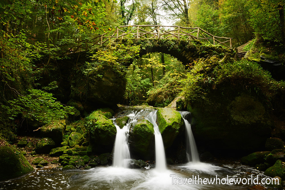 Luxembourg Mullerthal Schiessentumpel Waterfall