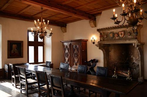 Luxembourg Vianden Castle Dinning Room