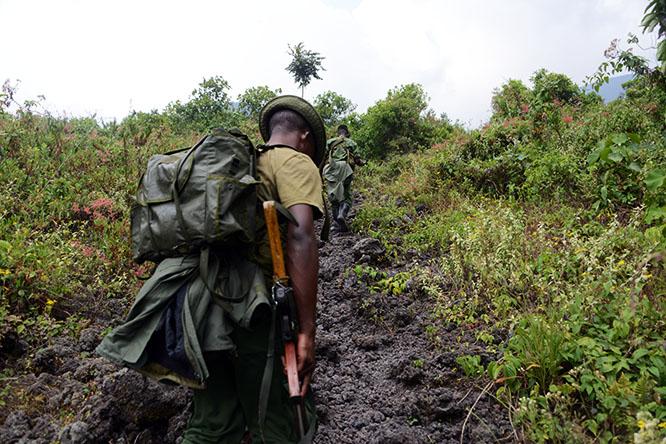 Congo Nyiragongo Volcano Hike Ranger