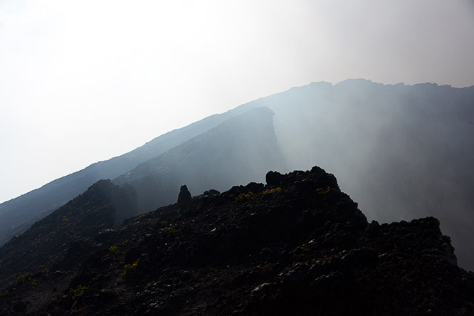 Congo Nyiragongo Volcano Rim