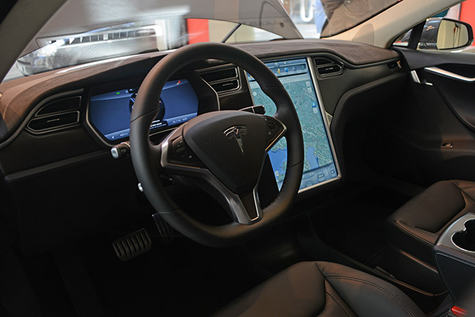 Switzerland Zurich Tesla Inside
