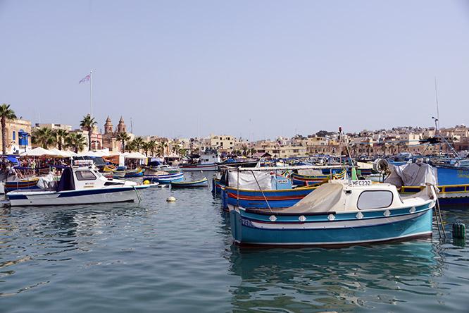 Malta Marsaxlokk Bay