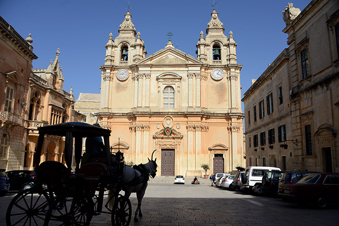 Malta Mdina St Paul's Cathedral