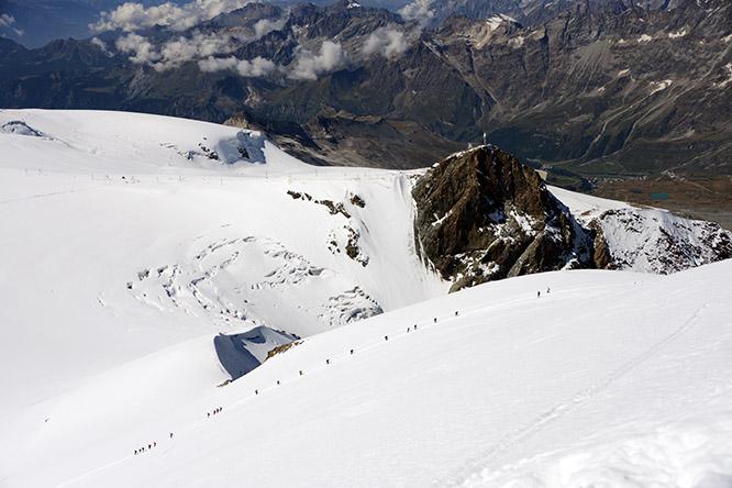 Switzerland Alps Breithorn Ascent