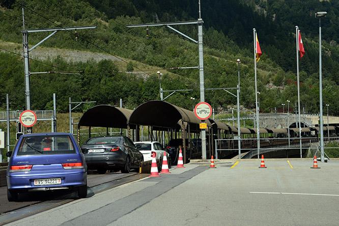 Switzerland Alps Car Train