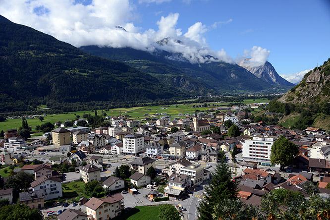 Switzerland Town Gampel-Bratsch