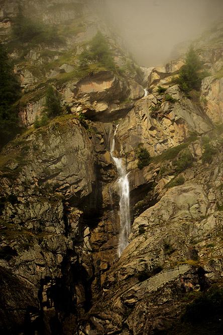 Switzerland Alps Waterfall
