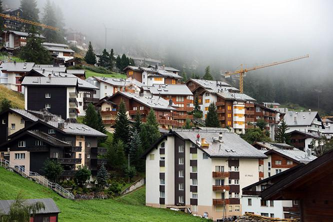 Switzerland Alps Zermatt Houses