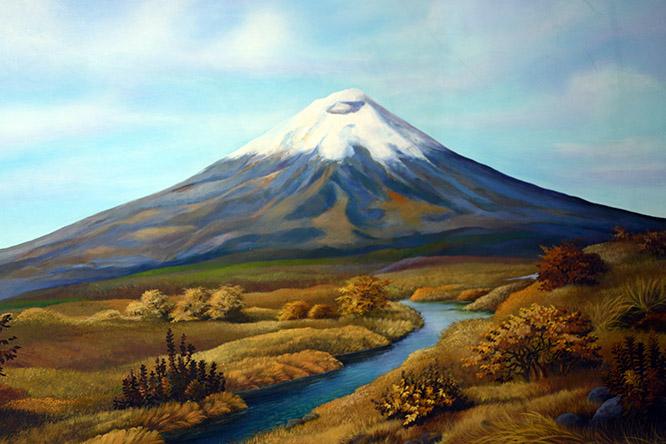 Ecuador Cotopaxi Painting