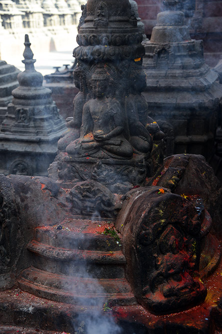 Nepal Kathmandu Monkey Temple Incense