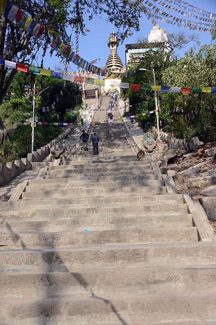 Nepal-Kathmandu Monkey Temple Stairs