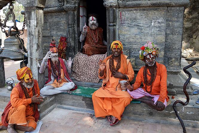 Nepal Kathmandu Pashupatinath Priests