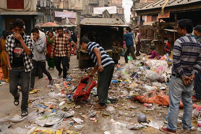 Nepal Kathmandu Trash