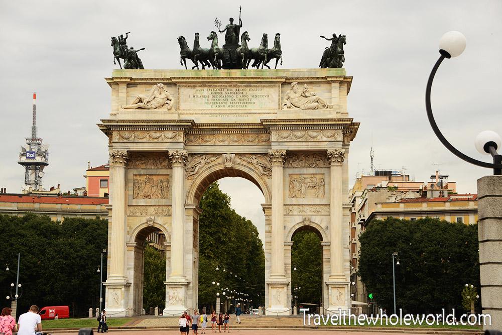 Travel Photos Italy Milan Arch Porta Sempione