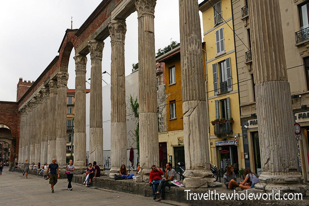 Travel Italy Milan Columns Colonne di San Lorenzo