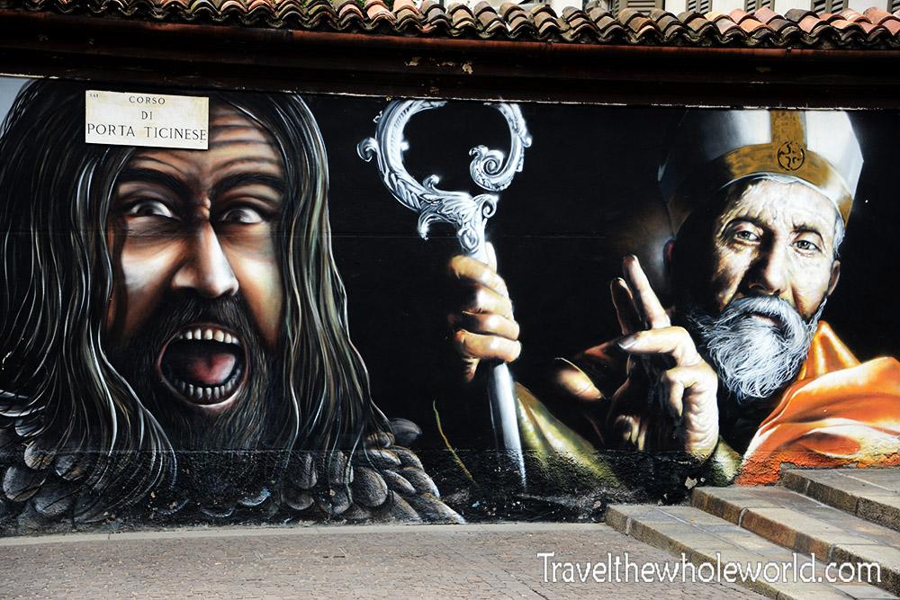 Travel Photos Italy Milan Christian Mural