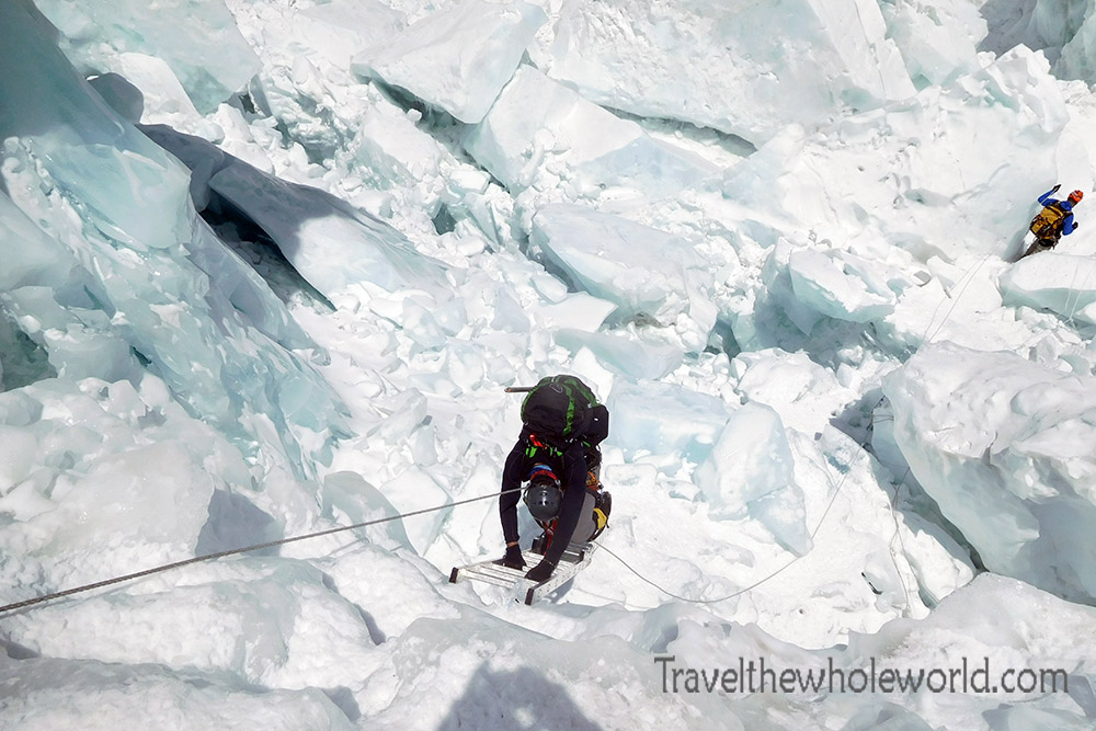 George Kashouh Nepal Mt. Everest Icefall Descend