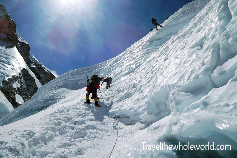 Me Nepal Mt Everest Icefall Enter Rappel