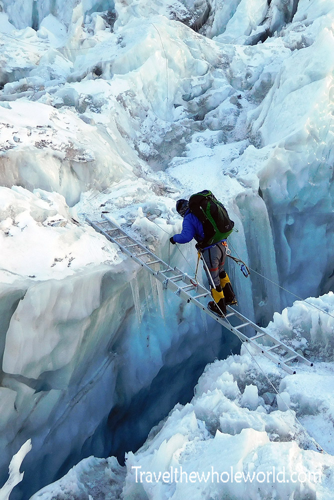 George Kashouh Mt Everest Icefall Ladder