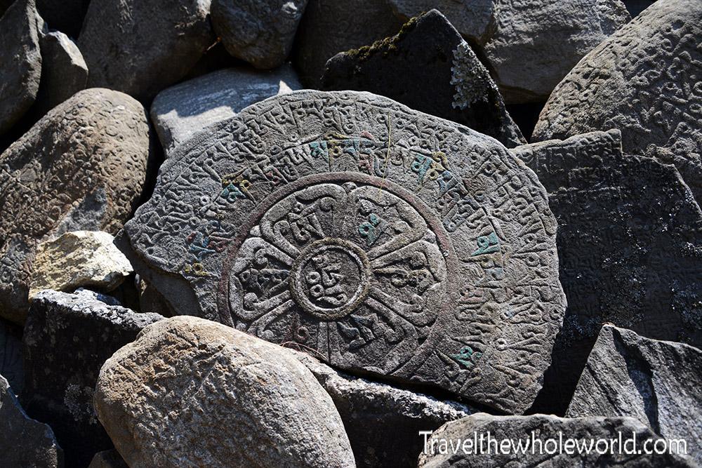 Nepal Mani Stone Buddhist Wheel
