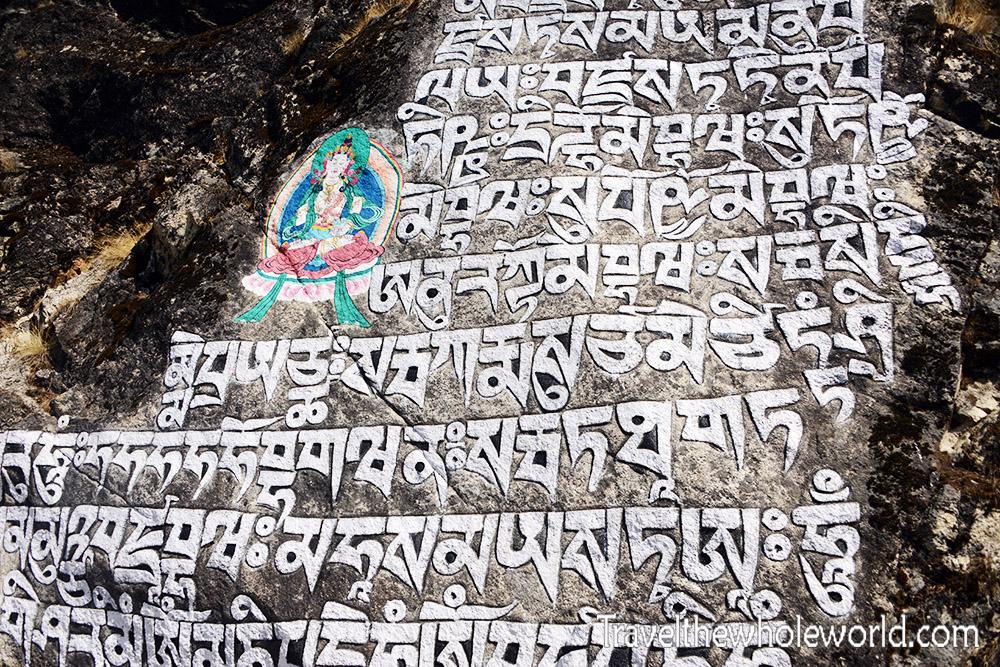 Mani Stone Khumbu Valley Buddhist Writing