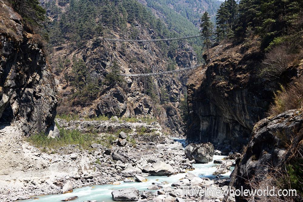 Nepal Khumbu Valley Double Bridge