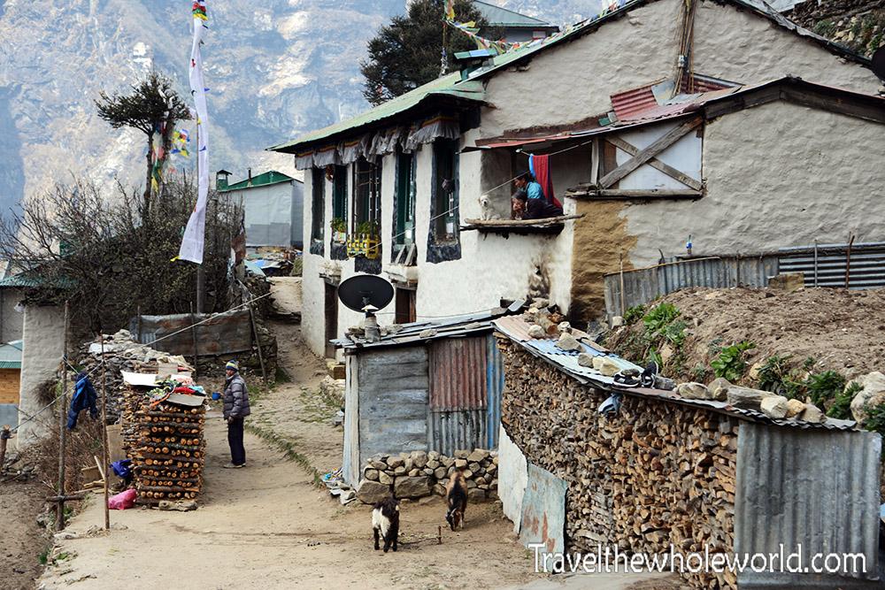 Nepal Khumbu Valley Namche Bazaar House
