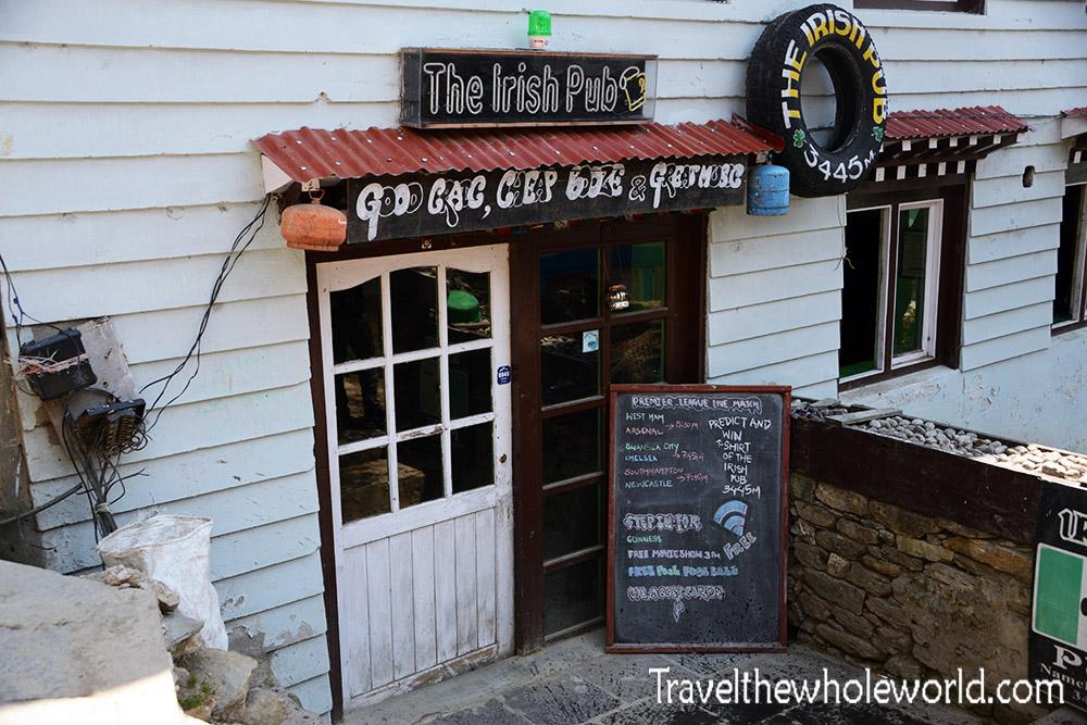 Khumbu Valley Namche Bazaar Irish Pub