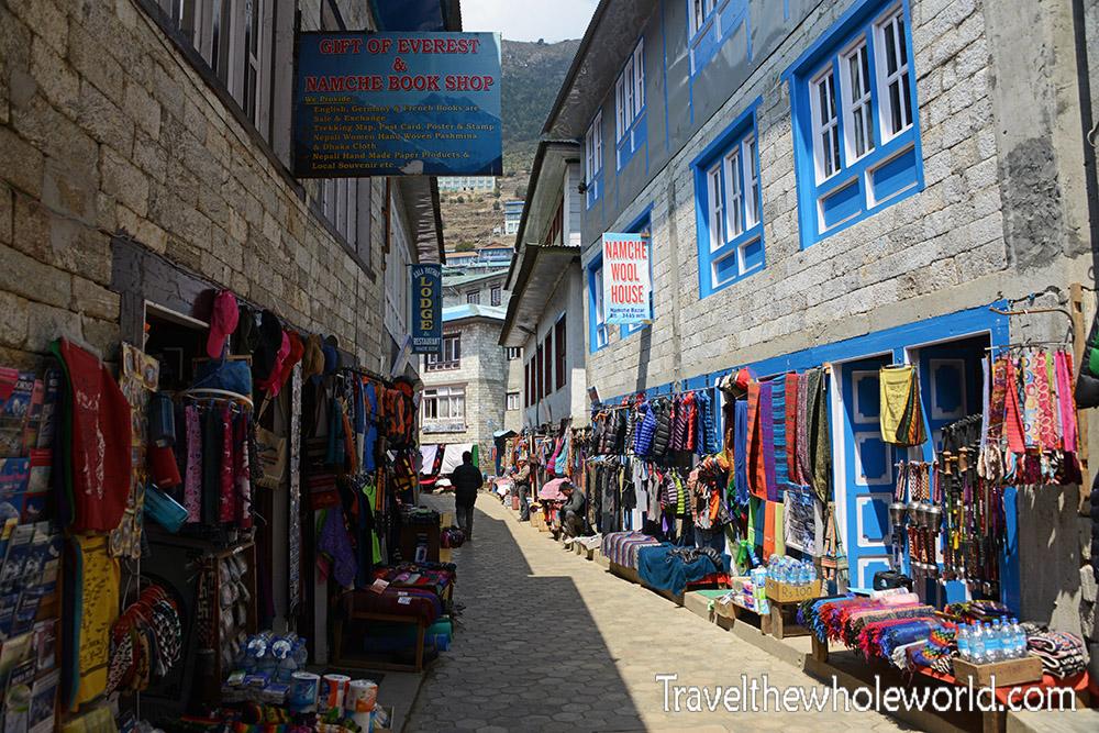 Nepal Namche Bazaar Street