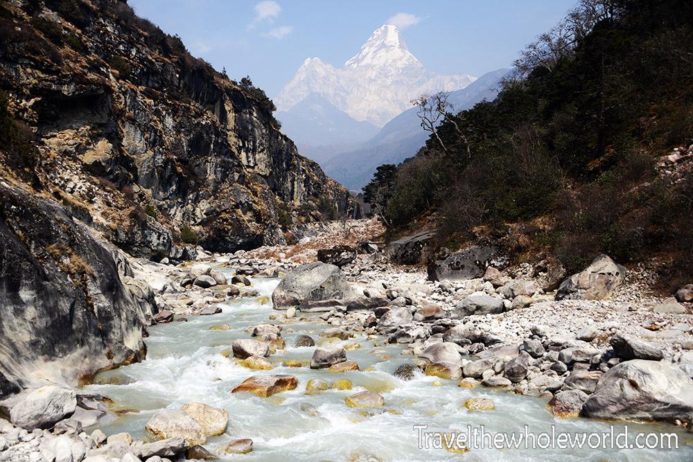 Nepal Khumbu Valley Tengboche Ama Dablam