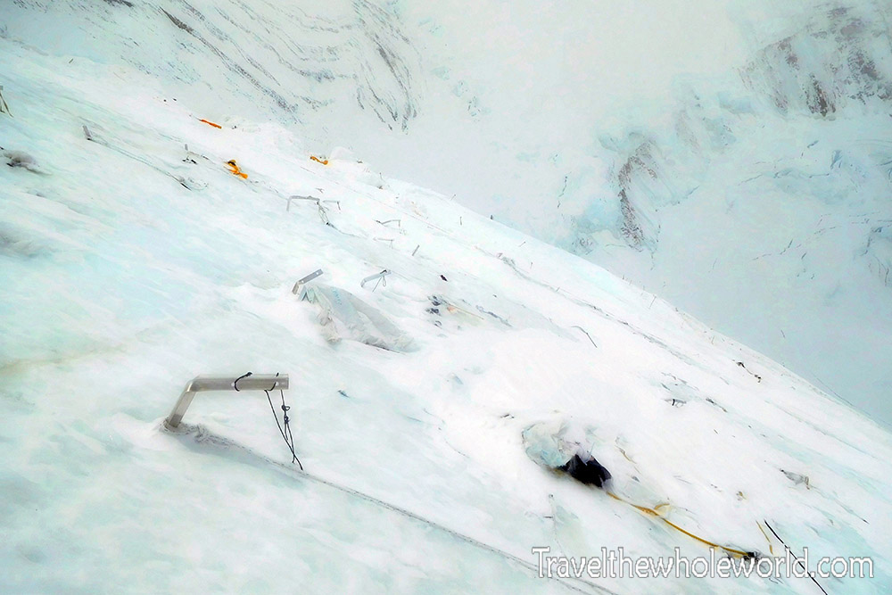 Mt Everest Camp III Avalanche Destroyed