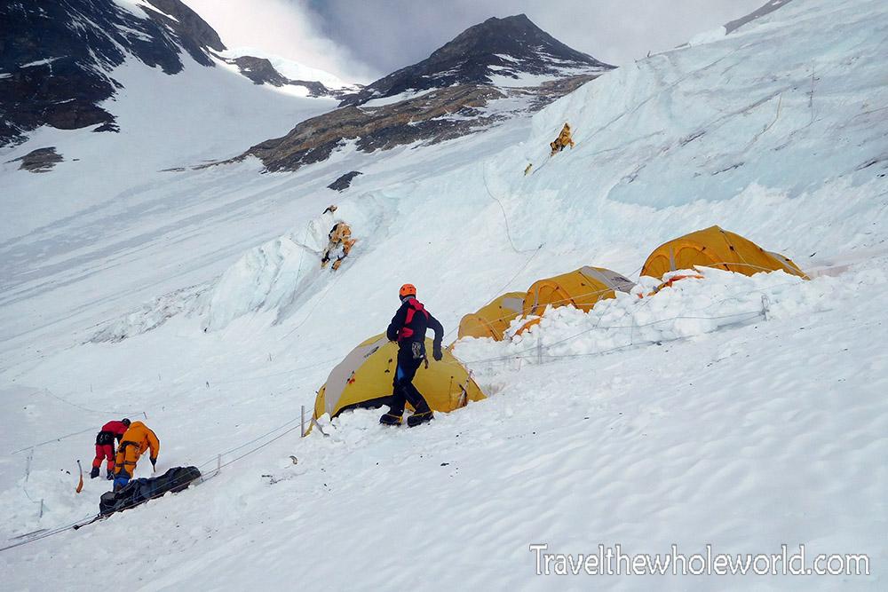 Mt Everest Lhotse Face Camp III