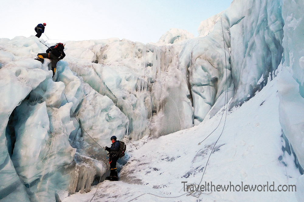 Nepal Mt Everest Icefall Climbing