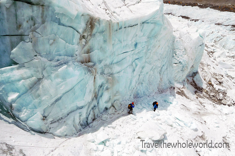 Nepal Mt Everest Icefall Descend