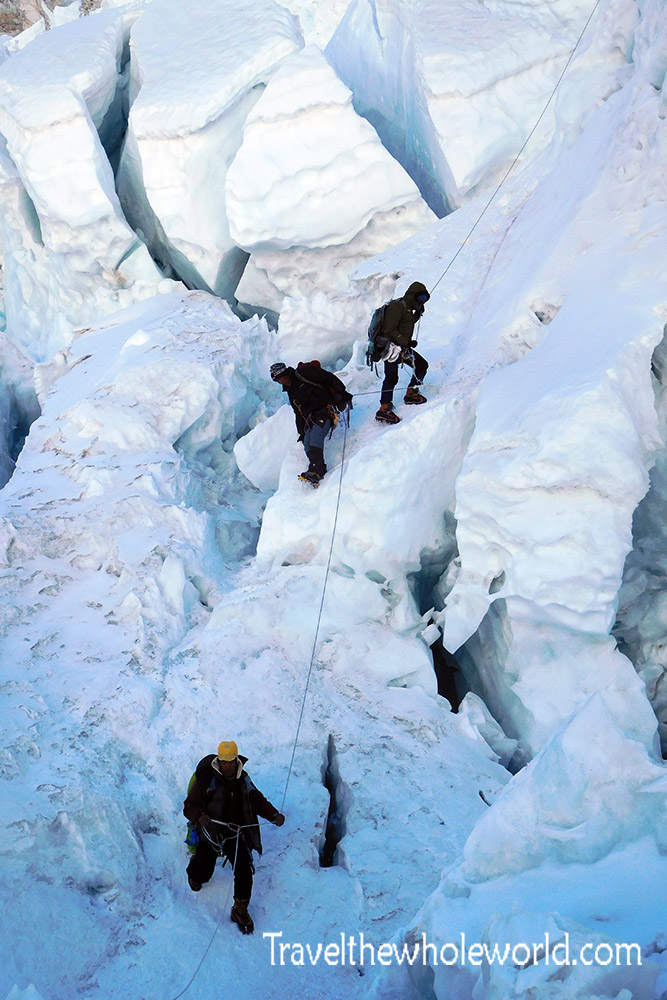 Nepal Mt Everest Icefall Descending