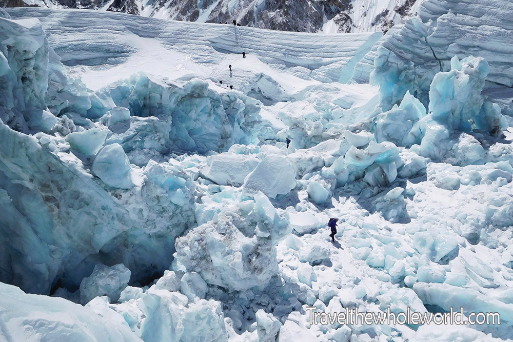 Nepal Mt Everest Icefall End