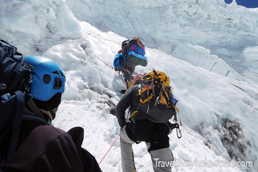 Mt Everest Lhotse Face Bergschrund