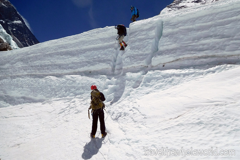Nepal Mt Everest Western Cwm Crevasse Wall
