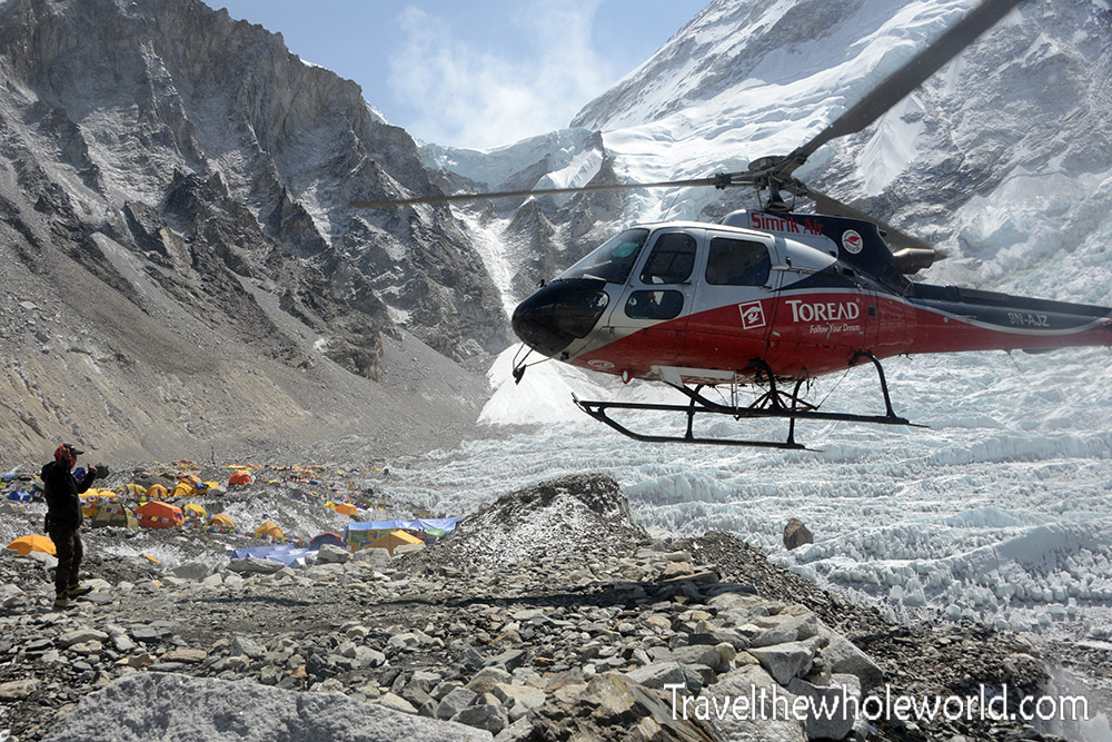 Nepal Mt Everest Base Camp Helicopter Landing