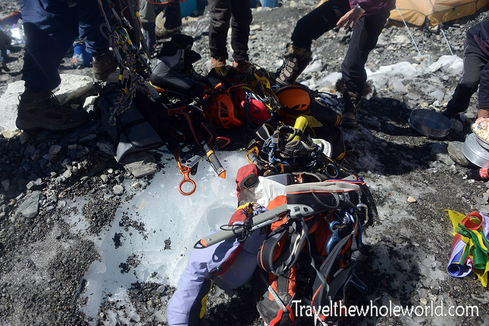 Nepal Mt Everest Base Camp Puja Ceremony Gear