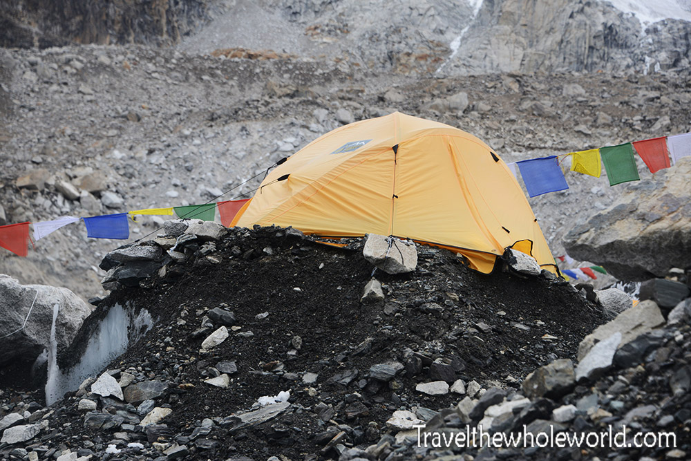 Nepal Mt Everest Base Camp Tent Erosion