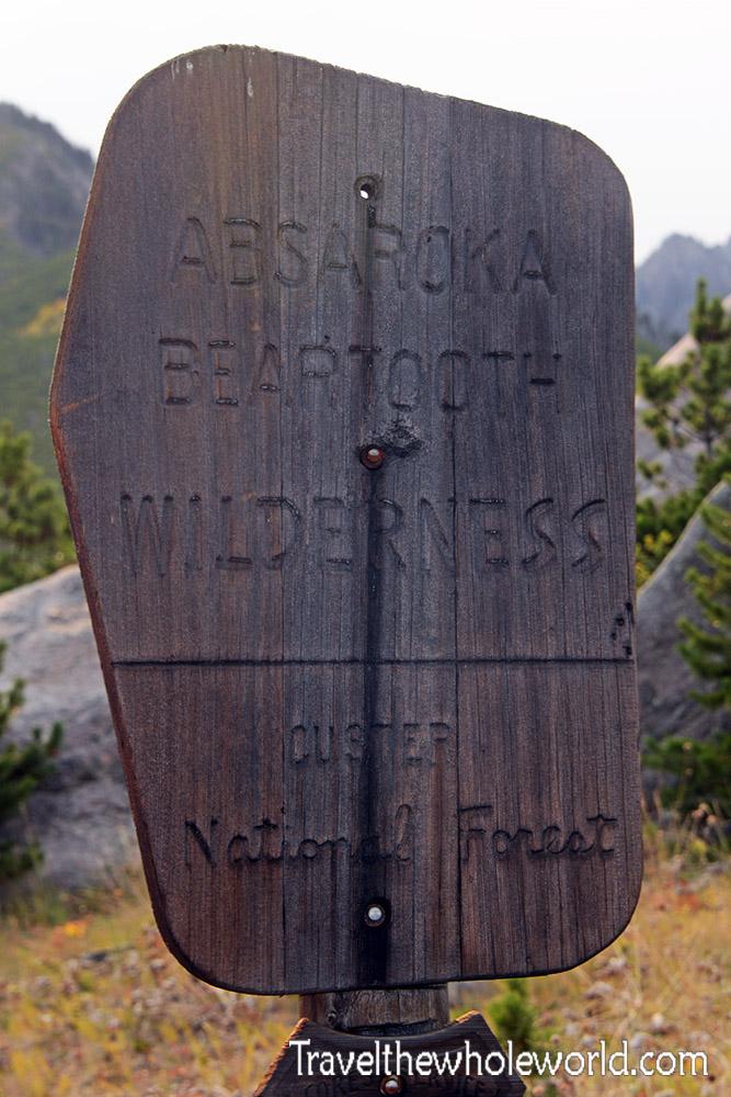 Montana Beartooth Wilderness Sign