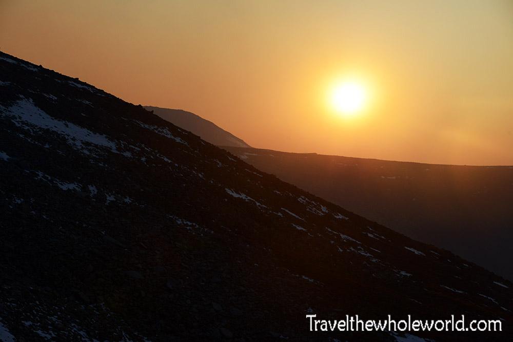 Montana Beartooth Wilderness Froze To Death Plateau Sunset
