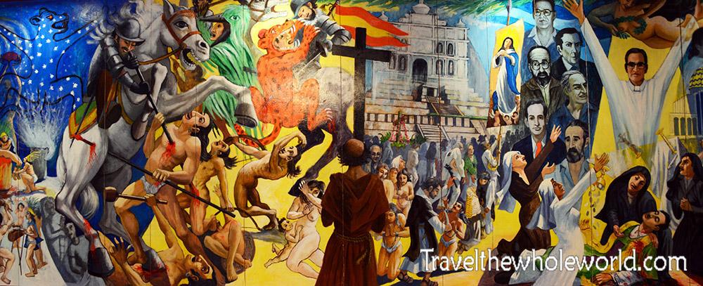 El Salvador's History Mural