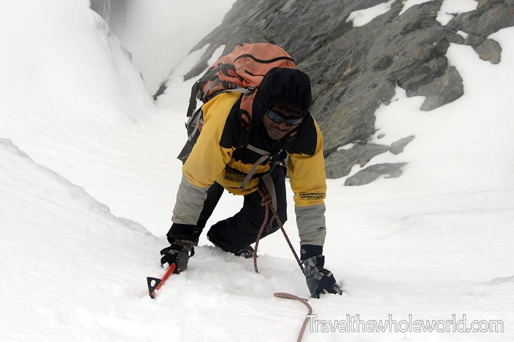 Climbing Mt. Stanley