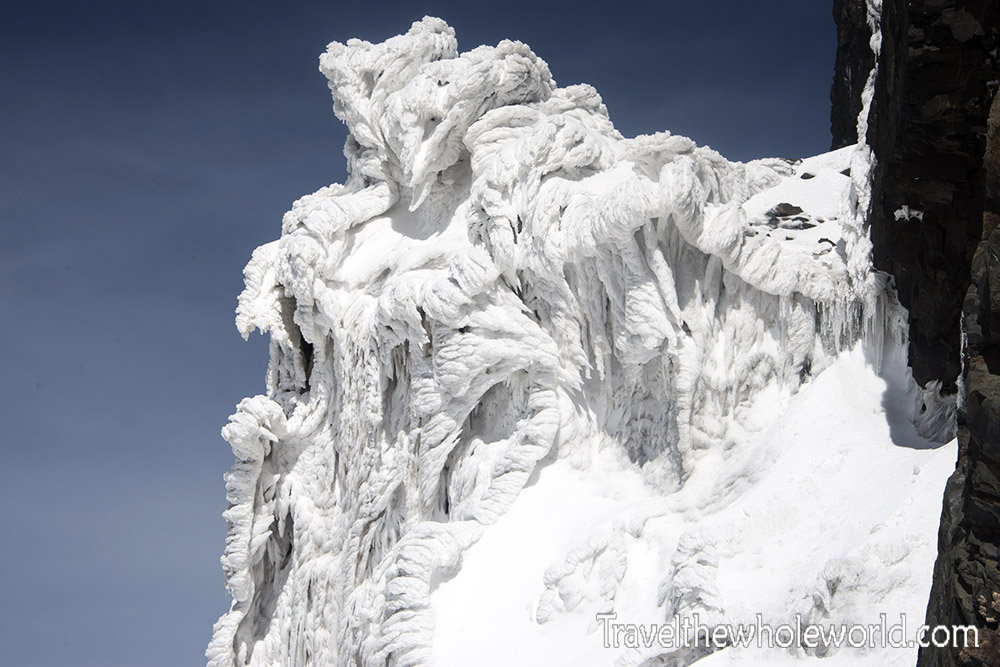 Africa Uganda Mt. Stanley Incredibly Rime Ice Formations