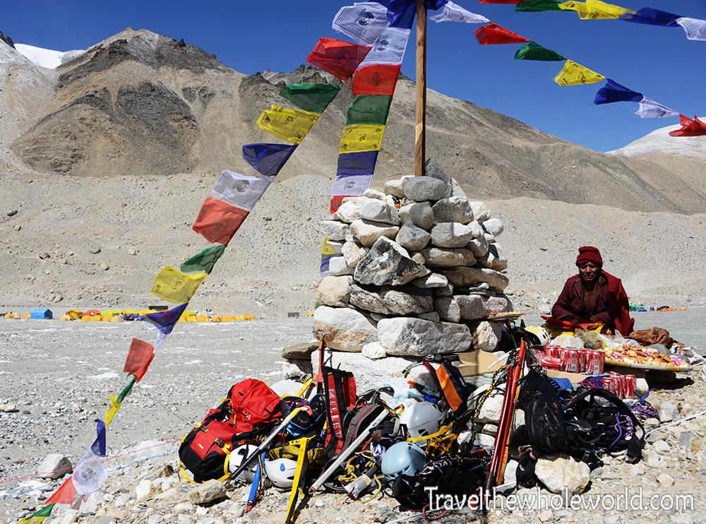 Everest Tibet Monk