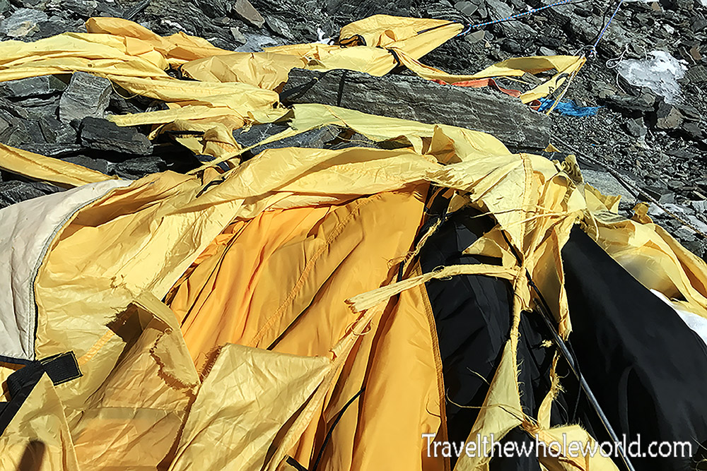 Everest Tibet Camp Destroyed Wind Storm
