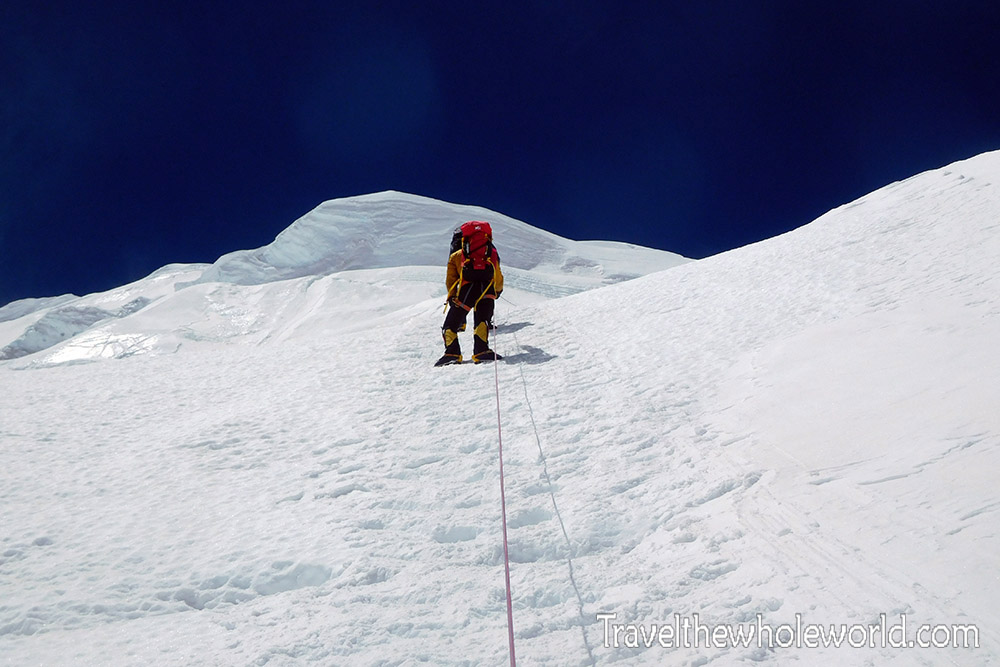 Mt. Everest North Col Climbing