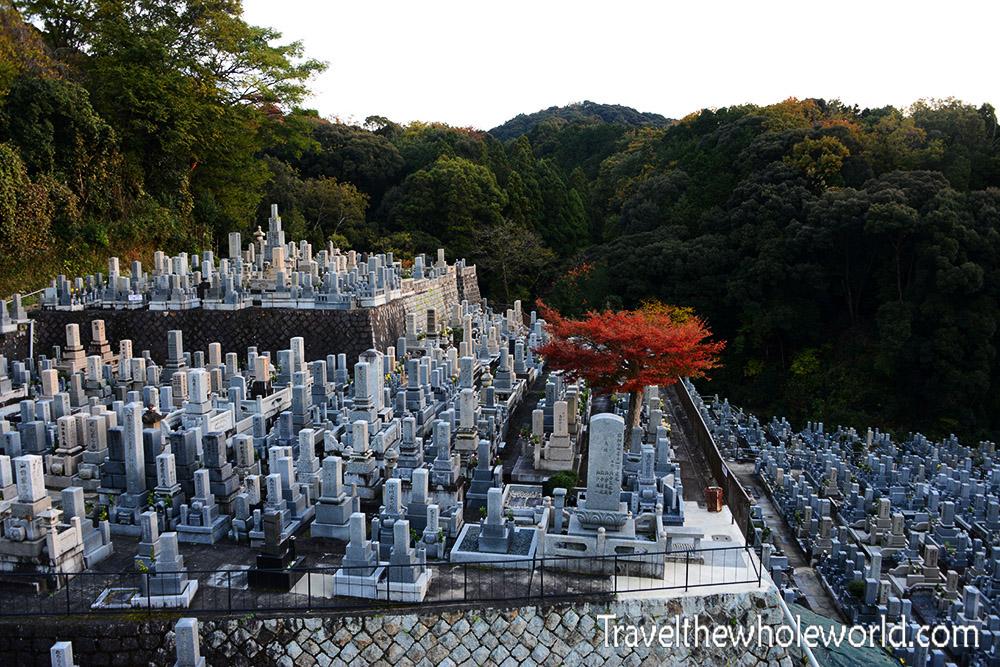 Japan Kyoto Buddhist Graveyard Cemetery